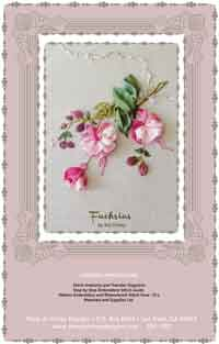 Fuchsias Silk Ribbon Embroidery Design, by Mary Jo Hiney